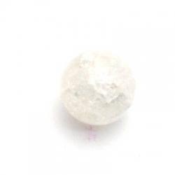 Glas crackle kraal rond transparant 12 mm (streng)