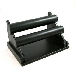 Armband display, PU leer, zwart, 2 rollen (1 st.)