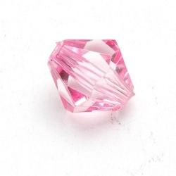 Kunststof kraal bicone facet roze 12 mm (25 st.)