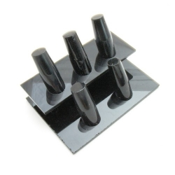 Ringstandaard, zwart, 5 ringen, 2 verdiepingen (1 st.)