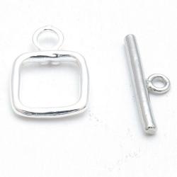 Kapittelslot, vierkant, zilverkleurig, 14 mm (3 st.)