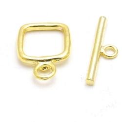 Kapittelslot, vierkant, goudkleurig, 14 mm (3 st.)