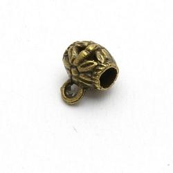 Metaal, tussenkraal voor hanger, antique goud, 8 mm (5 st.)
