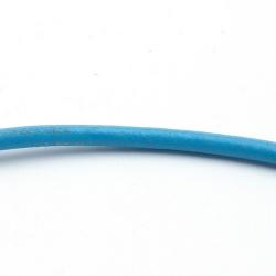Natuurleer, blauw, 4 mm (1 meter)