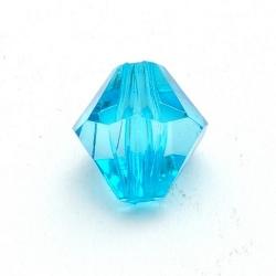 Kunststof kraal bicone facet turquoise 14 mm (15 st.)
