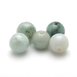Halfedelsteen kraal, Jade, rond, 12 mm (5 st.)