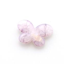 Kunststof kraal vlinder paars 30 mm (10 st.)