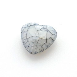 Kunststof kraal hart facet grijs 22 mm (6 st.)