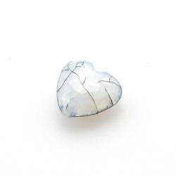Kunststof kraal hart facet grijs 18 mm (10 st.)