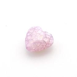 Kunststof kraal hart facet paars 18 mm (10 st.)