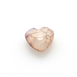 Kunststof kraal hart facet bruin 18 mm (10 st.)