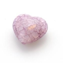 Kunststof kraal hart paars 26 mm (5 st.)