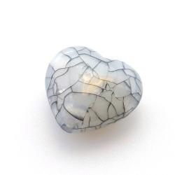 Kunststof kraal hart grijs 26 mm (5 st.)