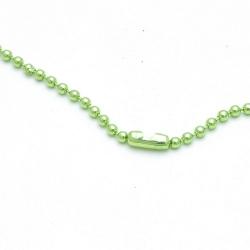 Ballchain met slotje groen 3mm (69 cm.)
