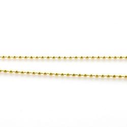 Ballchain, goudkleurig, 4 mm (1 mtr.)
