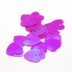Lovertjes, hart, roze, AB, 16 mm (50 gram)