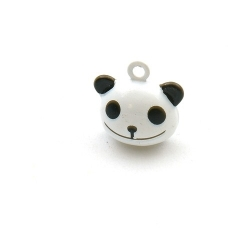 Metaal, belletje, panda, 20 mm (1 st.)