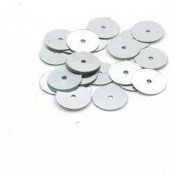 Lovertjes, rond, zilver, 10 mm (50 gram)