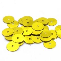 Lovertjes, rond, goud, 10 mm (50 gram)