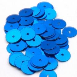 Lovertjes, rond, blauw, 10 mm (50 gram)