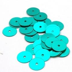 Lovertjes, rond, petrol, 10 mm (50 gram)