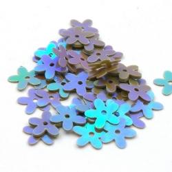 Lovertjes, bloem, bruin, AB, 10 mm (50 gram)
