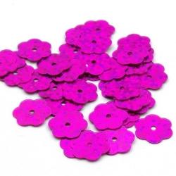 Lovertjes, bloem, fuchsia, 10 mm (50 gram)
