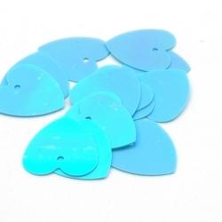 Lovertjes, hart, lichtblauw, 16 mm (50 gram)