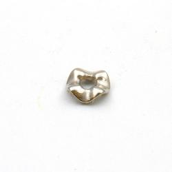 Metallook, spacer, golvend, zilver, 3 x 12 mm (20 st.)