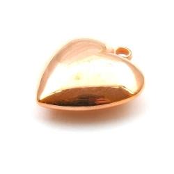 Metallook, hanger, hart, rosé goud, 34 mm (2 st.)