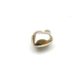 Metaal bedel, hartje, zilver, 18 mm (10 st.)