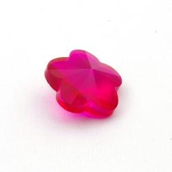 Glashanger, bloem met facetten, fuchsia, 28 mm (1 st.)