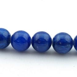 Gekleurd steen kraal, rond, donkerblauw, 10 mm (10 st.)