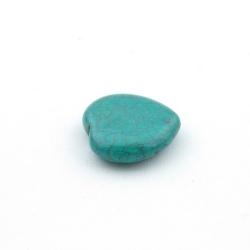 Halfedelsteen kraal, Turquoise kraal, hart, 20 mm (5 st.)