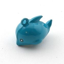 Metaal, belletje, dolfijn, 24 mm (1 st.)