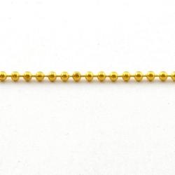 Ballchain, goud, 2 mm (5 meter)
