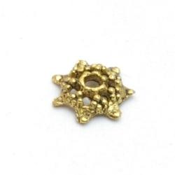 Kralenkapje, goud, 3 x 10 mm (20 st.)