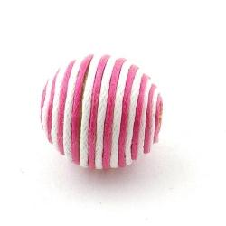 Touwkraal, roze/wit, 21 mm (3 st.)
