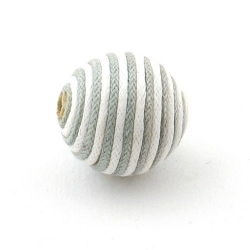 Touwkraal, grijs/wit, 21 mm (3 st.)