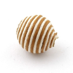 Touwkraal, bruin/wit, 21 mm (3 st.)
