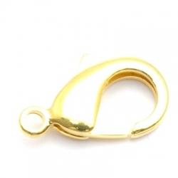 Karabijnslot, goud, 22 mm (3 st.)