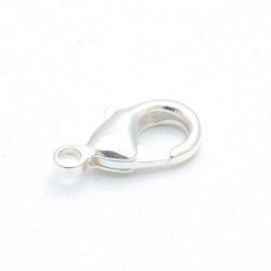 Karabijnslot zilver 18 mm (5 st.)