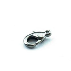 Karabijnslot, black plated, 10 mm (10 st.)