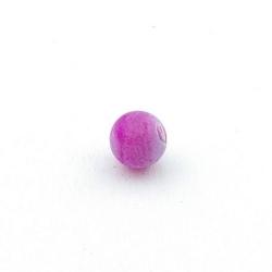 Fire Agaat, kraal, rond, roze, 8 mm (15 st.)