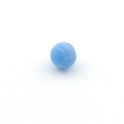 Fire Agaat, kraal, rond, blauw, 10 mm (10 st.)