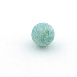 Fire Agaat, kraal, rond, groen, 12 mm (5 st.)