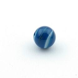 Agaat, kraal, rond, blauw, 10 mm (5 st.)