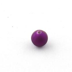 DQ Acryl kraal rond paars metallic 10 mm (10 st.)