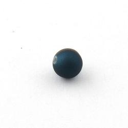 DQ Acryl kraal rond donkerblauw metallic 10 mm (10 st.)