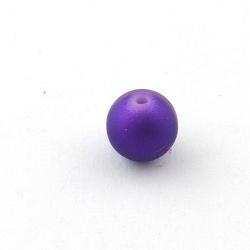 DQ Acryl kraal rond paars metallic 12 mm (5 st.)
